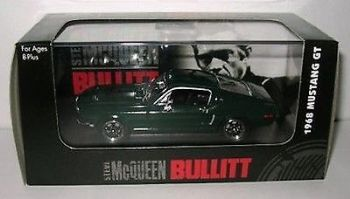 BULLITT 1968 FORD MUSTANG GT 1:43 SCALE DIECAST MODEL BY YAT MING MIB
